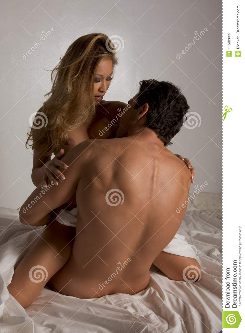 Naked sex with man and a woman