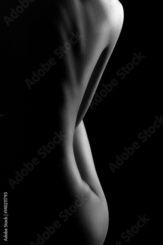 Black and white sexy nude beauty hd