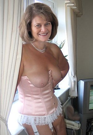 Images of nude matures in corsets