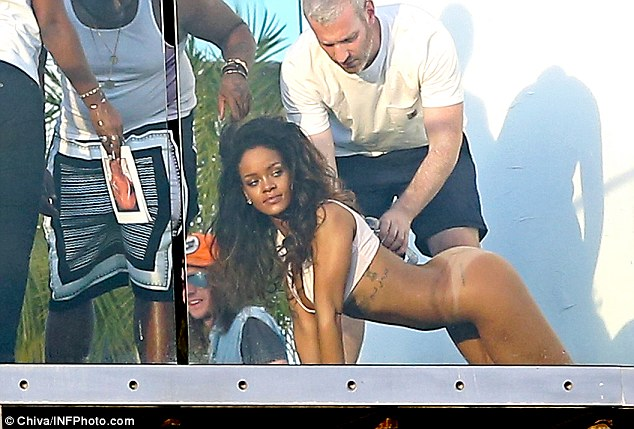 Rihanna naked in front of her boyfriend