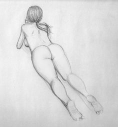 Pencil drawings of nude bitches