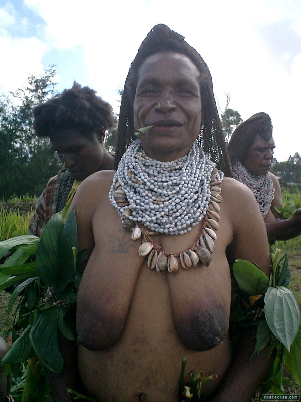 Nude old women of tribe