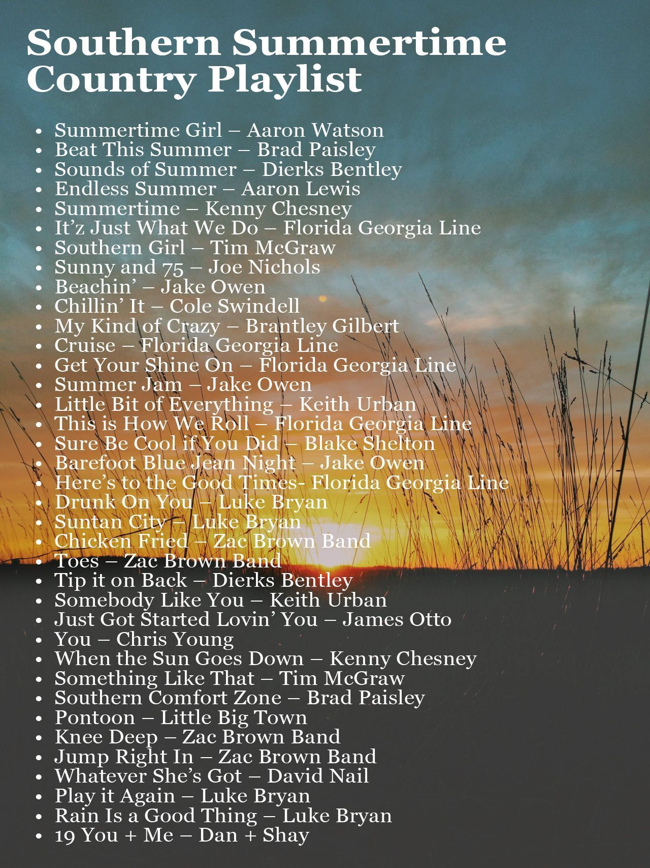 Online country playlist